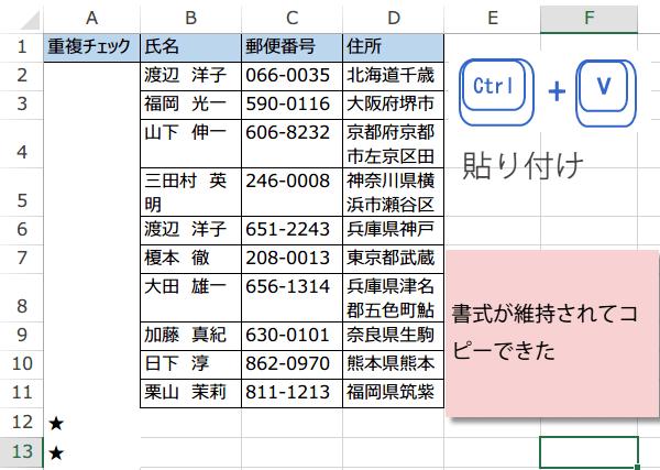 PDFのデータをExcelに変換3