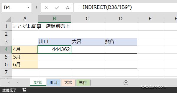 INDIRECT関数2