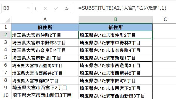SUBSTITUTE関数1