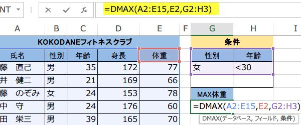 DMAX関数使い方2