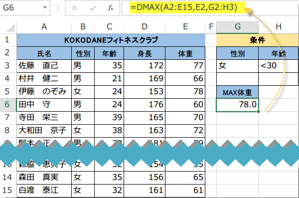 DMAX関数使い方3