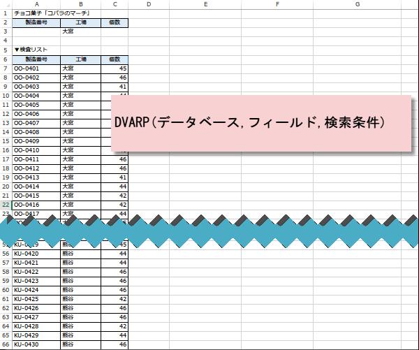 DVARP関数使い方1