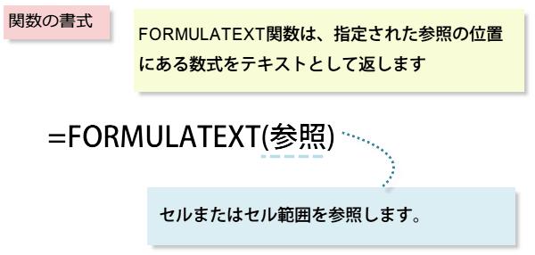 FORMULATEXT関数の書式
