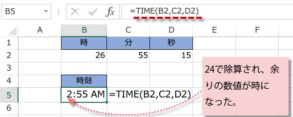 TIME関数の使い方2