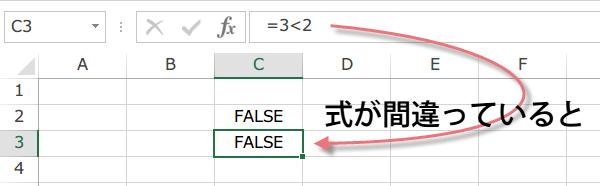 Excel FALSE関数2