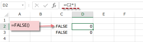 Excel FALSE関数3