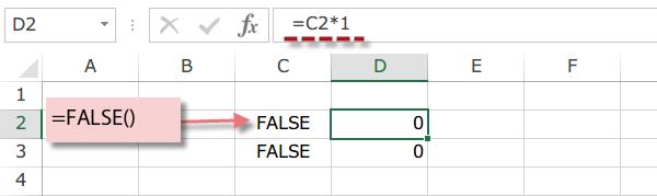 Excel FALSE関数3