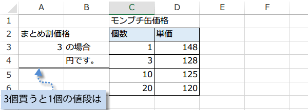 VLOOKUP関数の使い方2