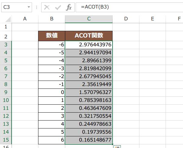 ACOT関数の使い方4