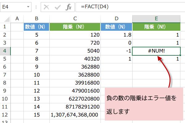FACT関数の使い方3
