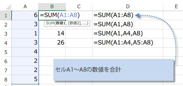 SUM関数の使い方