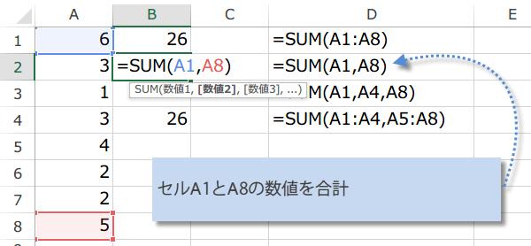 SUM関数の使い方2