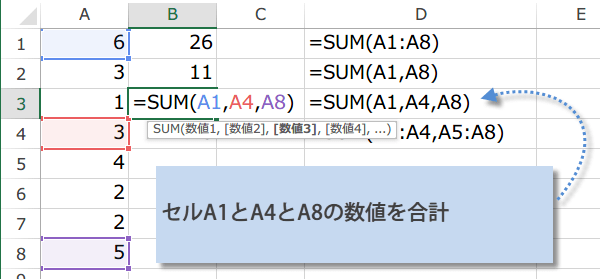 SUM関数の使い方3
