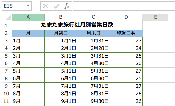 NETWORKDAYS.INTL関数の使い方3
