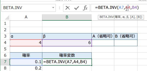BETA.INV関数の使い方5