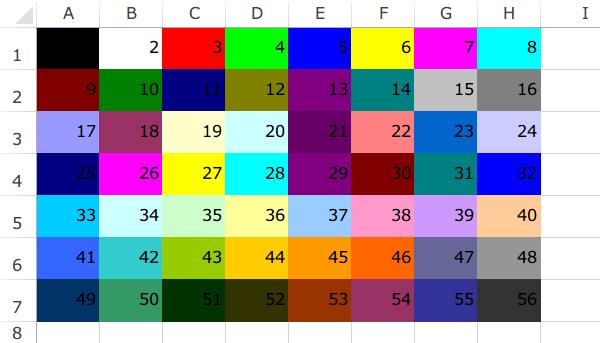 色番号一覧表2