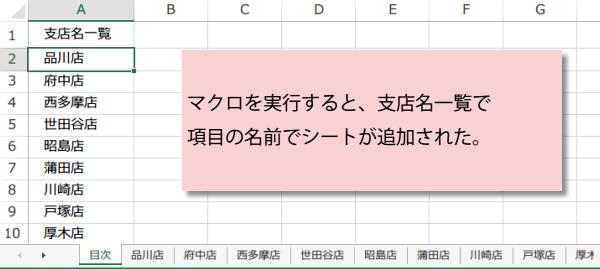 名前を指定して複数シートを一括で作成するマクロマクロ3