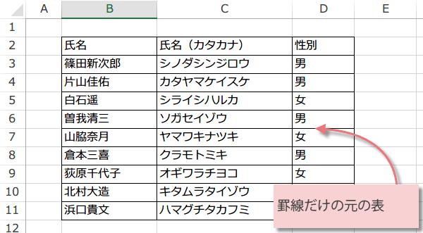 表のスタイルを設定マクロ4