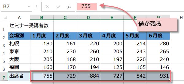 数式を値に変換するマクロ