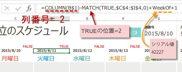 Excelで日単位のスケジュール作成方法7