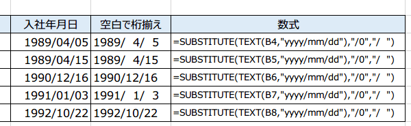 日付の桁を揃える方法8