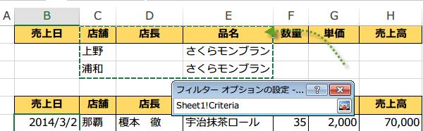 複数の条件をつけて抽出するAND条件7