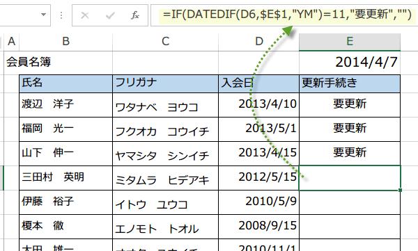更新手続を知らせる名簿2